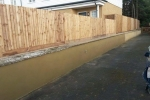 Maidstone Sittingbourne Rd - Render retaining wall, after