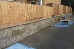 Maidstone Sittingbourne Rd - Render retaining wall, before